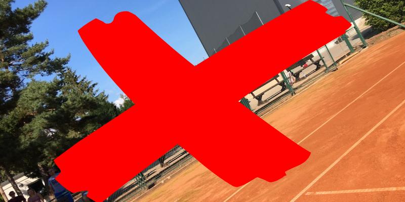 Uzavření tenisového areálu